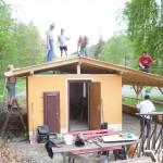 Backhaus,Dachneubau - Mai 2012