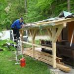 Dachdecker am Backhaus, Mai 2012